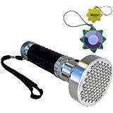 HQRP Lampe de poche puissante 100 LED UV 390 nM avec une grande zone de couverture pour inspection, chasse / éclairage des scorpion + mètre du soleil
