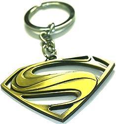 A M ENTERPRISES Superman Key Chain Key Ring,Golden