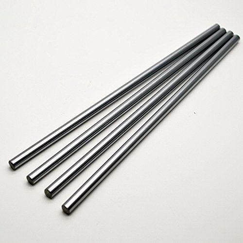 2pcs/lot CNC lineare asta cromato diametro esterno 12mm L 500mm WCS rotonda in acciaio Rod Bar cilindro lineare ferroviario