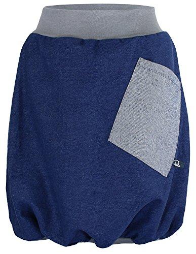 Pauliz - Ballonrock - modischer Jeansrock mit Tasche - Farbe: Blau - Größe M - Haut-ebene Ballon