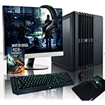 VIBOX Legend Pack 24 PC Gamer - 4,0GHz CPU 8-Core Intel i7, 2x GTX 1080, VR prêt, Ordinateur PC de Bureau Gaming avec Watercooling 2 paquets de jeux (Compris For Honor Code), avec Écran, Windows 10, Éclairage Interne Blanc (3,2GHz (4,0GHz Turbo) Processeur CPU Huit 8-Core Intel i7 6900K Ultra Rapide, 2x Dual SLI Carte Graphique Haute Performance Nvidia GeForce GTX 1080 8 Go, 32 Go Mémoire RAM 3000MHz DDR4, SSD 500 Go, Disque Dur 3 To, Ventilateur de processeur PC Liquide Corsair H100i GTX)