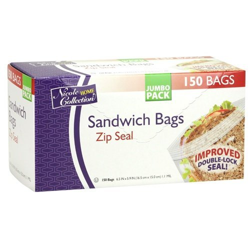 nicole-home-collection-150-count-zip-seal-sandwich-bags-by-nicole-home-collection
