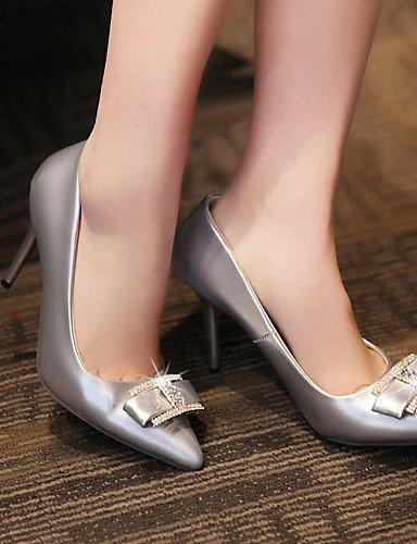 GS~LY Homme / Femme / Fille-Bureau & Travail / Habillé / Décontracté-Argent / Or-Talon Aiguille-Talons-Chaussures à Talons-Similicuir silver-us10.5 / eu42 / uk8.5 / cn43