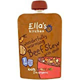 Ella's Kitchen Stage 2 from 7 Months Organic Wonderfully Warming Beef Stew with Spuds 130 g (Pack of 6)