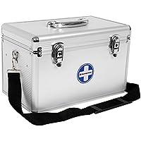 Songmics JBC362S Erste Hilfe Koffer Medizin-Box mit Tragegriff Aluleisten ABS silbrig preisvergleich bei billige-tabletten.eu