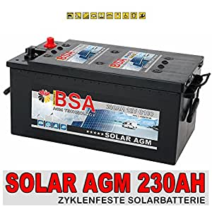 agm solarbatterie 230ah versorgungsbatterie wohnmobil boot. Black Bedroom Furniture Sets. Home Design Ideas