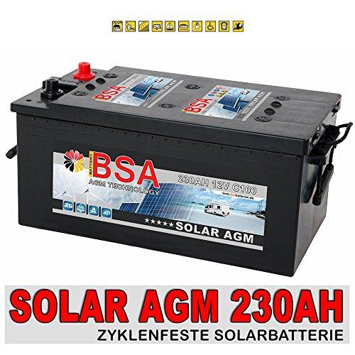 Preisvergleich Produktbild AGM Solarbatterie 230Ah Versorgungsbatterie Wohnmobil Boot Batterie ersetzt 200Ah 220Ah