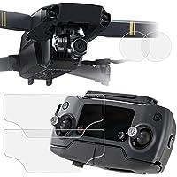 Protecteurs D'écran et D'objectif pour DJI Mavic Pro Quadcopter Drone, AFUNTA 2 Paquets (4 pièces) Film de Protection en PET pour Écran de Télécommande, et Verre Trempé Anti-rayures pour D'objectif de Caméra