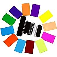 HASTHIP® 12pcs Strobist Flash Color Card Diffuser Lighting Gel Pop up Softbox Fit for Canon 580EX II 430EX II 600EX…
