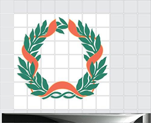 Fliesenaufkleber Fliesentattoos für Bad & Küche - Küchenfliesen 110x110 cm - Fließen Wunschgröße - MF147 - Weihnachten Schattierungen
