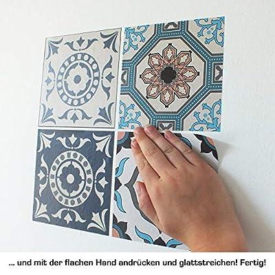 Cuadros Lifestyle Dekorative Stickerfliesen mit Tollen Motiven und Ornamenten für Wände und Fliesen | 12 Teiliges Set | seidenmatt von cuadros-lifestyle bei TapetenShop