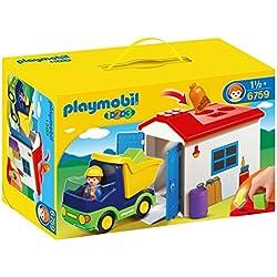 Playmobil - 1.2.3 Camión con garaje (6759)