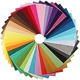 Ciaoed Tela de fieltro Hoja Cuadrados para Patchwork Scrapbooking Artcraft Proyecto Manualidades 42 Piezas (20x30cm)