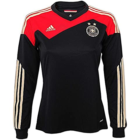 Adidas Germania donna DFB Maglia Jersey, schwarz