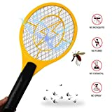 Chollima Bug Zapper, Fly Zapper Plug Charging,3-Layer Grid Protection, Electric Fly Swatter