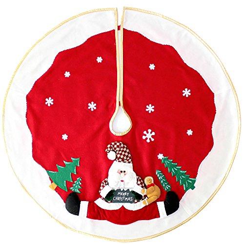 WeRChristmas 100cm grande decoración para base de árbol de Navidad con diseño...
