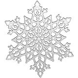 ?Moule de flocon de neige en acier carbone pour la carte en papier modèle DIY scrapbook album