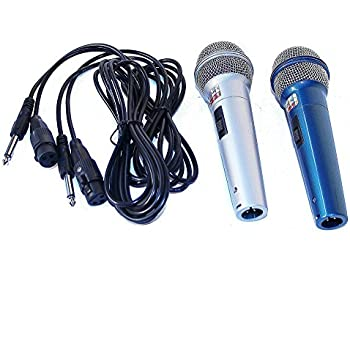 Soytich 2 Mikrofone +2x2,5m Kabel 6,3mm Stecker Mikrofon