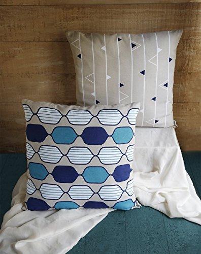 Regali di natale, set di 2 cotone piazza tiro federe casi con chiusura a cerniera e stampati motivi di per la decorazione federa cuscini per divano domestica divano letto