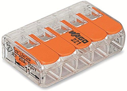 WAGO Kontakt Teknik Compact anslutningsklämma 221-415