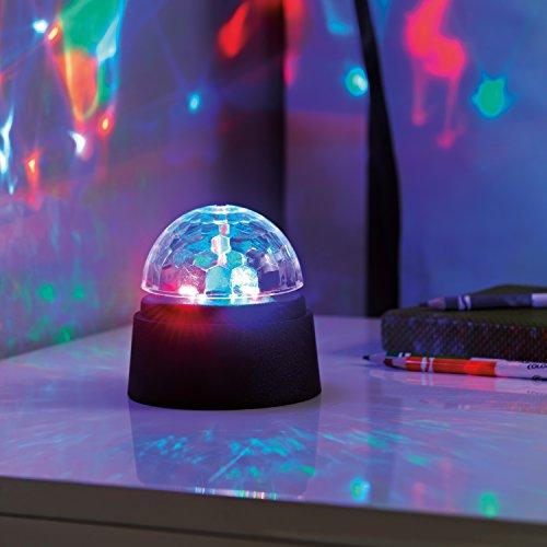 Global Gizmos Batteriebetriebenes Lampe in Form einer Kristall-Discokugel