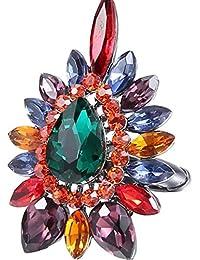 Diamantes creativos del anillo 3 de la personalidad del diamante retro del diamante de la gema