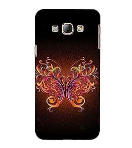 Print Masti Designer Back Case Cover for Samsung Galaxy A7 (2015) :: Samsung Galaxy A7 Duos (2015) :: Samsung Galaxy A7 A700F A700Fd A700K/A700S/A700L A7000 A7009 A700H A700Yd (Decorative Fantacy Butterfly)
