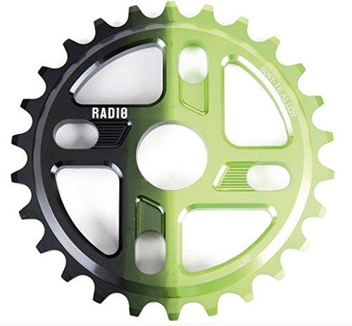 Radio Bikes Axis Kettenblatt | Schwarz/Grün | 28T | 19mm/22mm/24mm