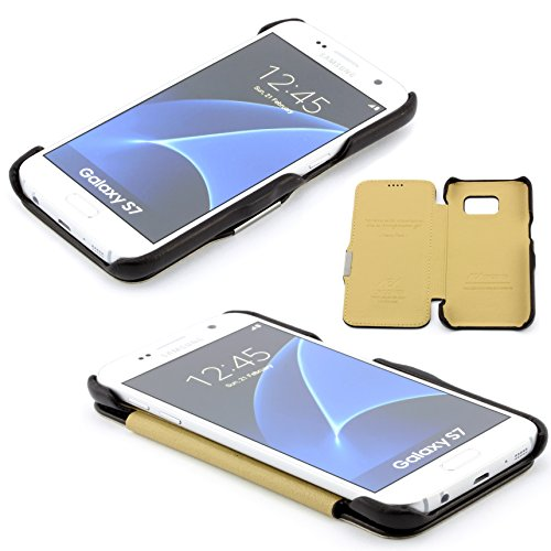 Apple iPhone 7 PLUS Schutz Tasche Case Echt Leder Schutz Hülle edles Design Leder Cover ScorpioCover rot schwarz