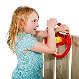KBT Lenkrad Rot mit gelber Hupe für Spielgeräte, Spieltürme, Stelzenhäuser, Spielhäuser und Spielanlagen.