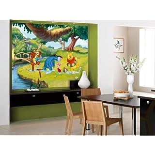 AG Design FTDm 0709  Disney Winnie Puuh, Papier Fototapete Kinderzimmer- 160x115 cm - 1 Teil, Papier, multicolor, 0,1 x 160 x 115 cm