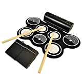 Aum Electronic Drum Pad Portable Musical Roll-up Electronic Drum Pad Set with Built in Speaker