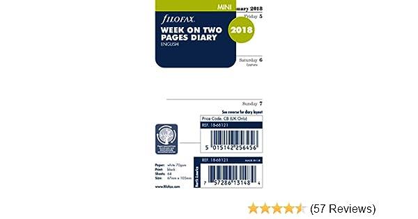 Filofax Mini Week On Two Pages English 2018 Diary