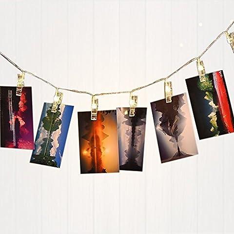 Guirlande Lumineuse avec Pince à Photo 16 LEDs 4,5 M