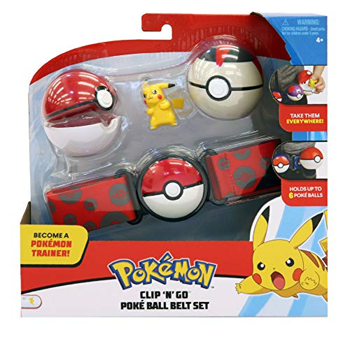Pokémon Clip 'N' Go Wave 2 - Pikachu & Poké + Timer Ball - Newest Edition 2019 -
