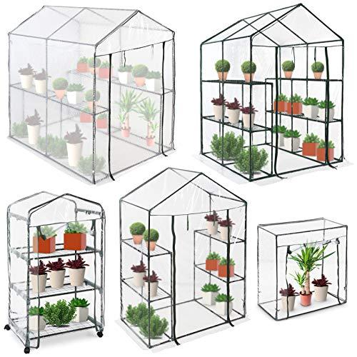 Jago Foliengewächshaus mit Rollen | für die Mini Bio-Produktion und den Blumenanbau, Verschiedene Größen | Gartengewächshäuser, Wintergarten, Treibhaus, Tomatenhaus, Pflanzenhaus
