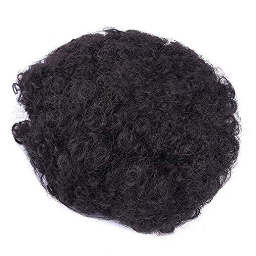 Yinew Curly Hair Pferdeschwanz Afroamerikaner kurze Haarteile Afro verworrene Curly Wrap Drawstring Puff Pferdeschwanz Haarverlängerung Perücke, 1B #, ()