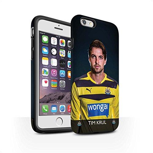 Officiel Newcastle United FC Coque / Matte Robuste Antichoc Etui pour Apple iPhone 6 / Pack 25pcs Design / NUFC Joueur Football 15/16 Collection Krul