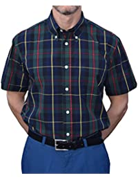 Warrior Black Navy & Green Check Shirt Sizes Large-4XL Available