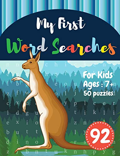 My First Word Searches: 50 Large Print Word Search Puzzles : word search for kids ages 6-8 activity workbooks | Ages 7 8 9+ kangaroo design (Vol.92) (Kids word search books, Band 92) Kangaroos Ruby