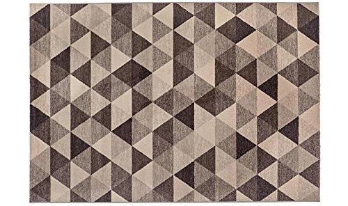 Alfombra dibujo geométrico Varios Tonos de marrón–alfombra moderno Sitap Capri 32381–6525