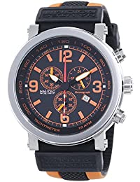 Nautec No Limit Speed SE QZ/RBORSTSTBK-OR - Reloj para hombres, correa de goma multicolor