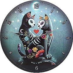 Nemesis Now - Reloj de Noche (35 cm, MDF, Talla única), Color Azul