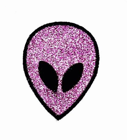 Aliens Kostüm Diy (rabana Alien lila Cartoon Kids Kinder Cute Animal Patch für Heimwerker-Applikation Eisen auf Patch T Shirt Patch Sew Iron on gesticktes Badge Schild)
