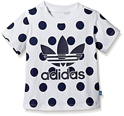 adidas - Shirts - Denim Dot Tee - White - 4-5Y