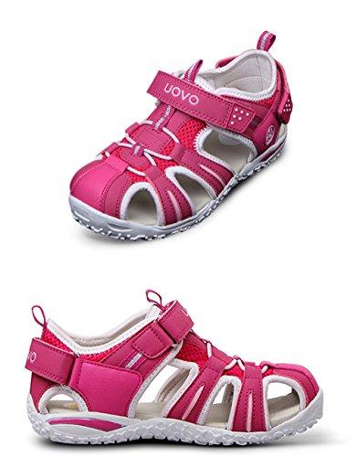 EOZY Sandale Enfant Mixte Bout Fermé Antidérapant Léger Chaussure Été Rose