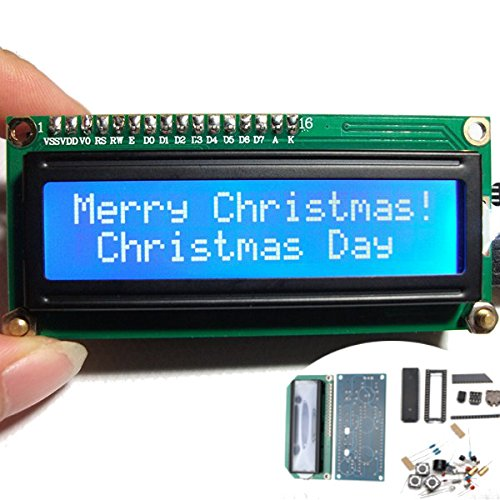 Ils - DIY Mini 1602 Fantasy Kalender LCD Elektronische Uhr Kit