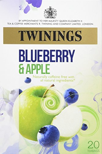 Twinings Fresh and Fruity Blueberry and Apple 20 Teabags (Pack of 4, Total 80 Teabags)