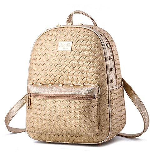 koson-man-girl-womens-rivets-backpack-daily-shoulders-bagbeige