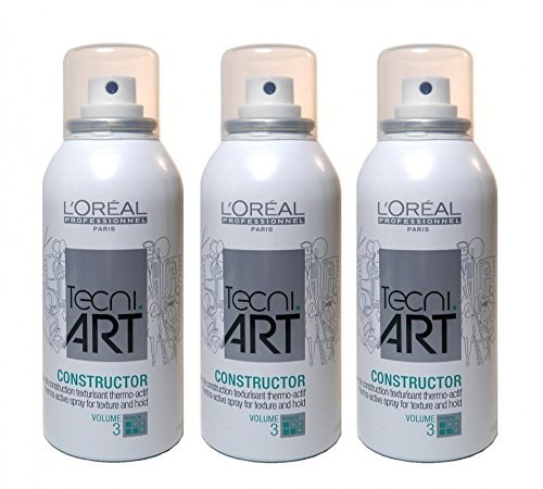 Loreal Volume Constructor 3 x 150 ml Thermo-Active Spray Tecni.art Styling für feines Haar Neue Serie